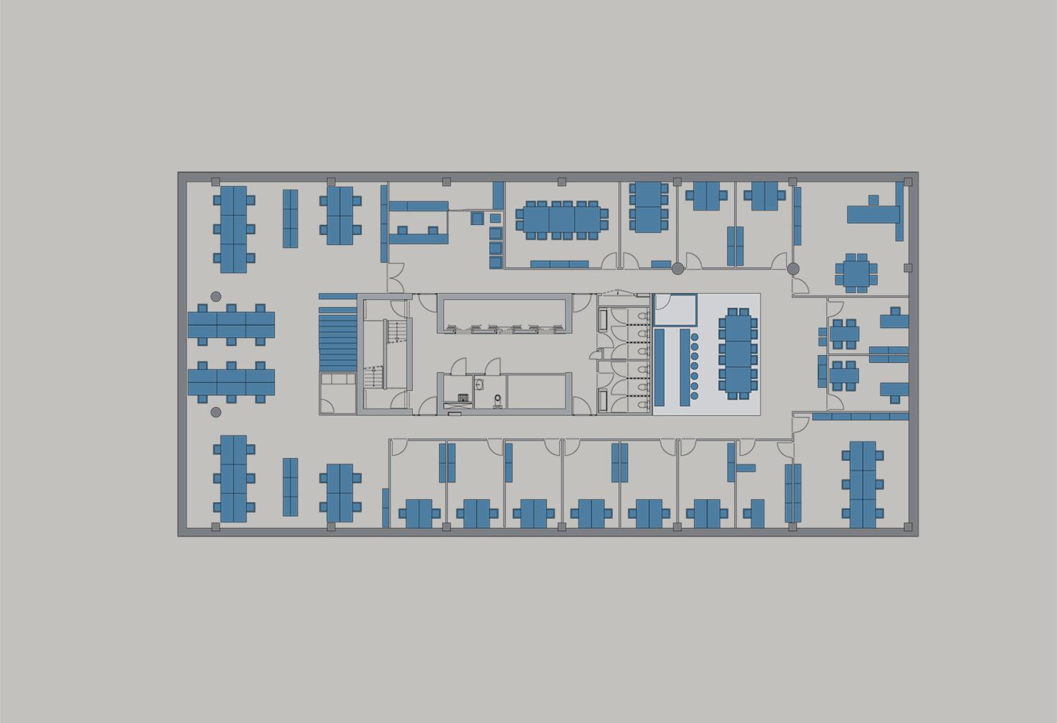 Kantoorgebouw De Landdrost Almere - Variant 1