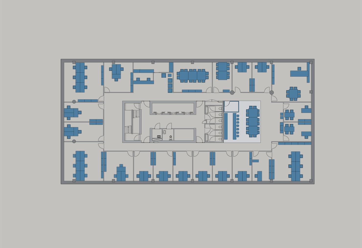 Kantoorgebouw De Landdrost Almere - Variant 2